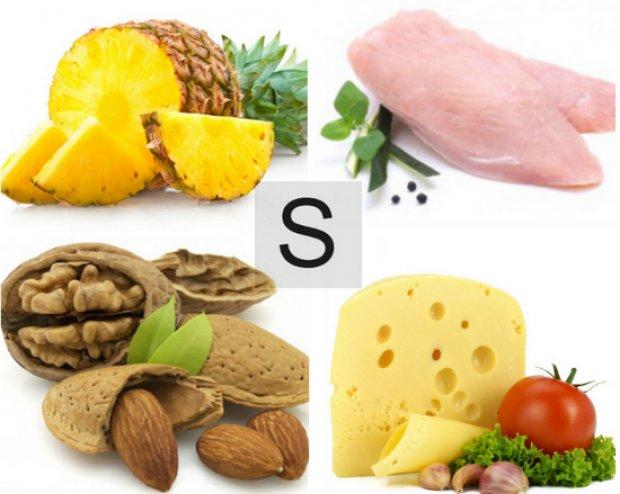 Роль серы (S) в организме: суточная потребность и полезные ...