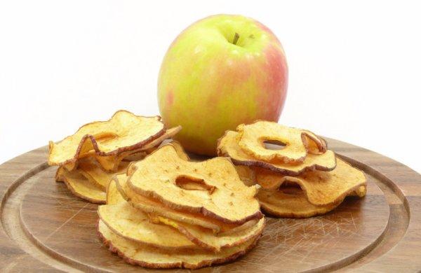 Сколько сахара в сушеных яблоках