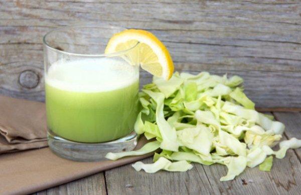 Как сделать свежий сок из капусты