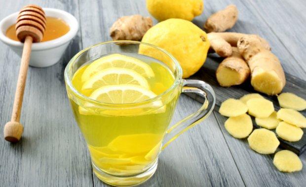 Чай с мёдом, лимоном, имбирём