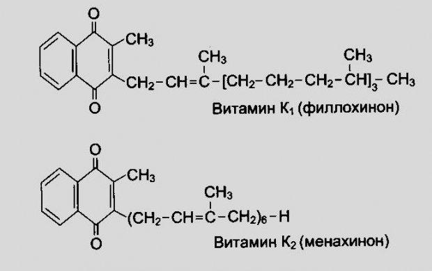 Витамин К1 и К2