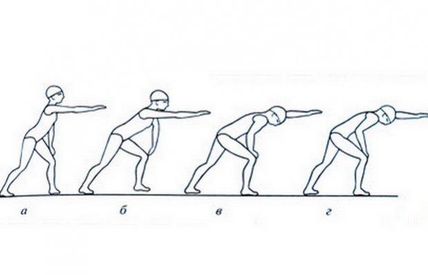 Упражнения для обучения движению руками при плавании кролем на груди на суше