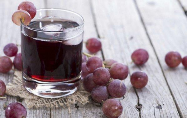 Натуральный виноградный сок: польза и вред
