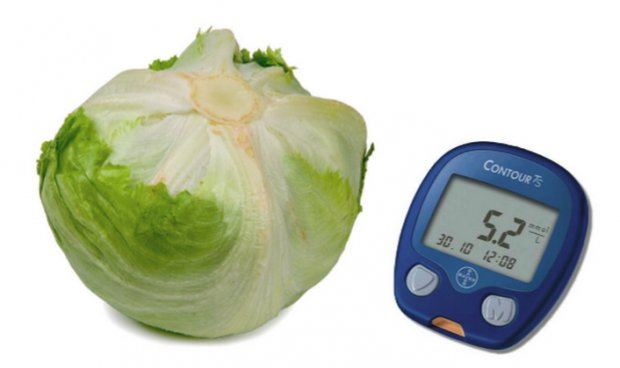 Салат айсберг при сахарном диабете