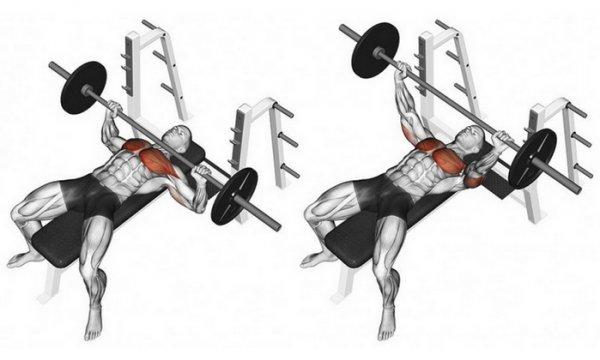 ещё два упражнения со штангой в домашних условиях фото предлагает широкий