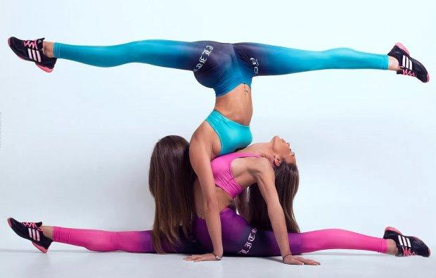 Парные виды упражнений акробатики