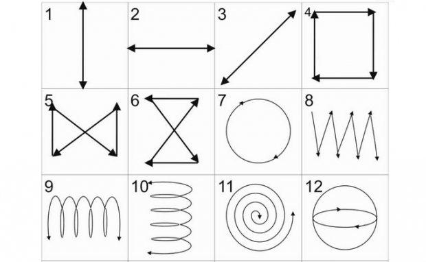 Геометрические фигуры для рисования глазами